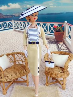 *Nautica*~ OOAK Summer Fashion for Silkstone/Vintage Barbie/Fashion Royalty~Joby Originals