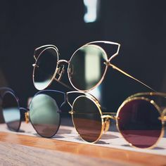 Shimmering shades of gold, tan, and purple with the Believer. #DITAeyewear