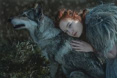 "ziomantaz: ""Dancing with the wolf… "" Eddard Stark, Sansa Stark, She Wolf, Wolf Girl, Randal, High Fantasy, Medieval Fantasy, Dark Beauty, Winter Is Coming"