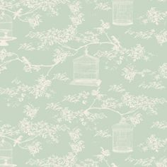 Tilda Winter Memories Fabric - Birdcage Toile Teal 3.75 per 1/4m