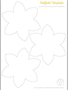 Daffodils template