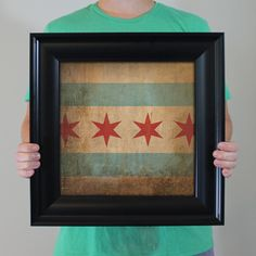 Chicago Flag   Flags have been used for identity and heritage for centuries, and City Prints carries on the tradition with our flag series. Flags not only represent the country, state, or city – they represent every individual who calls it home. Rep your region with a fine art print from City Prints – truly the perfect personalized gift.