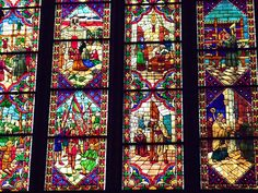 León: vidriera en la catedral de León.