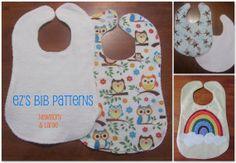 free bib sewing patterns | Newborn & Large Baby Bib Pattern- PDF with Sewing Instructions and ...