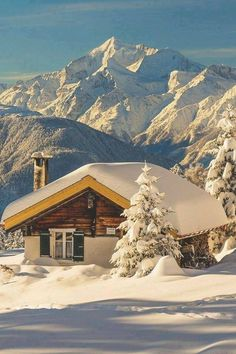 Snow Cabin, The Alps, Switzerland. If I had views like that, I probably wouldn't leave the cabin very often. Ideas De Cabina, Places Around The World, Around The Worlds, Beautiful World, Beautiful Places, Amazing Places, Snow Cabin, Winter Cabin, Cozy Winter