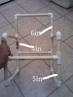 "First off, This is my first instructable. This isnt my original idea but i haven't ever came across an instructable for how to make this so i decided to make one to share with every one. the original instructions that i found was on one of the first links on google after searching ""pvc toddler chair"" they also have instructions on how to make the actuall sling part of it that the kids sit in but im not guna add that part just pictures of it(plus the wife is guna sew them..."