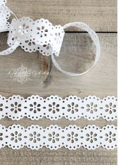 paper punch garland - Christmas is just a few months away! Great idea!