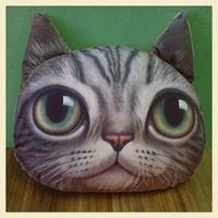 Description : ------------- Cute Cat Face Pillow With Core Adorable design cushion with soft texture! Perfect for gift and home decoration! Filling: PP Cotton. Cute Cat Face, Car Sofa, Cat Pillow, Head Shapes, Grey Cats, Pillow Design, Cute Cartoon, Wallets For Women, Cat Lovers