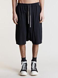Rick Owens DRKSHDW Men's Fine Jersey Pod Shorts