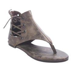 0e4aea451d4 Pierre Dumas Adele-1 Women s Lace-up Back Zipper Ankle High Gladiator Thong