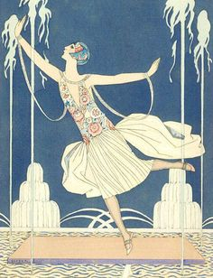 A Celebration of Illustration: Gallery of Illustrations by the French Illustrator George Barbier, Master of Art Deco, Fashion, and Storybook Illustration Art Deco Illustration, Mode Vintage Illustration, Art Nouveau, Art Vintage, Vintage Prints, Belle Epoque, Art Deco Stil, Inspiration Art, Art Deco Posters