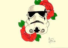 #stormtrooper #oldschool #roses #tattoo #copy #rereading