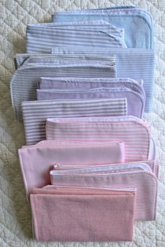 Oxford Burp Cloths - the purl bee  --this blog sells fat quarters of Oxford fabric, however, for the budget-minded sewer, I'm wondering if (men's) shirts could be used? [You know..the ones that are frayed at collar & cuff?]  How adorable.
