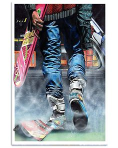 Back to future The Future Movie, Back To The Future, Culture Pop, Geek Culture, Bttf, Marty Mcfly, Sneaker Art, Vintage Metal Signs, Retro Waves