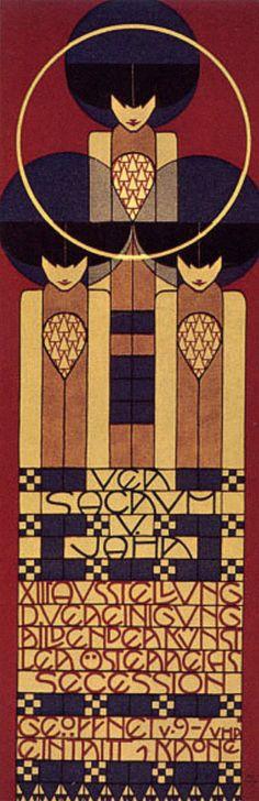 Austria. Ver Sacrum Poster, 1902 // Kolomon Moser