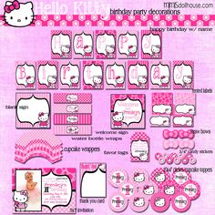 hello kitty party | Home / Birthday Party / Hello Kitty Party Printable Collection (Light ...