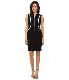 Calvin Klein Calvin Klein  Color Block SheathWhite Womens Dress for 47.99 at Im in! #sale #fashion #I'mIn