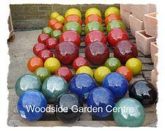 Want! Woodside Garden Centre, Bauer Pottery, Garden Spheres, Arizona Gardening, Yard Design, Garden Ornaments, Glaze, Colours, Modern