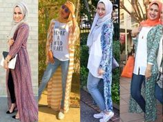 long cardigans hijab college style- Muslim women hijab trends http://www.justtrendygirls.com/muslim-women-hijab-trends/