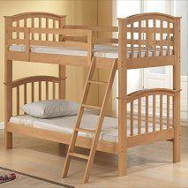 Twin / Double Bunk Bed Oak - In Stock