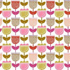 metre Sweet fields Nutex fabric 60/'s retro bright fat quarters,half metre
