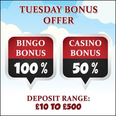 Come play your favorite bingo and casino games with #GameVillage and avail the #Tuesday #Bonus #Offer.   Visit https://www.gamevillage.com and deposit now Validity : 20th October, 2015   For Bonus & Withdrawal Rules visit https://www.gamevillage.com/terms-and-conditions