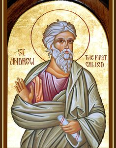 Andrew the Apostle also known as Saint Andrew and called in the Orthodox… Byzantine Icons, Byzantine Art, Catholic Saints, Patron Saints, Catholic Art, Religious Icons, Religious Art, Andrew The Apostle, Orthodox Christianity