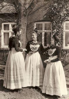 festtracht konfirmation auf Föhr 1955 #Foehr