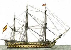 Spanish ship of the line with 112 canons