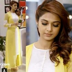 indian designer wear Buy Online Jennifer Winget Yellow Color Stylish Indowestern Suit From Pakistani Dress Design, Pakistani Dresses, Indian Dresses, Dress Indian Style, Indian Designer Suits, Kurti Designs Party Wear, Kurta Designs Women, Designs For Dresses, Mode Hijab