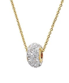 Loving this Yellow Gold & Simulated Diamond Pavé Pendant Necklace on #zulily! #zulilyfinds