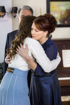 WHEN CALLS THE HEART - HEART'S DESIRE  Abigail travels to Hamilton to stay with Elizabeth's family and is compelled to accept Bill Avery's help on a personal matter.  A heroic act by Jack brings him closer to his ex-fiancée, Rosemary.  Elizabeth returns to Hope Valley, she and Jack come together to consider what the future holds.  Photo: Erin Krakow, Lynda Boyd  Credit: Copyright 2015 Crown Media United States, LLC/Photographer: Eike Schroter