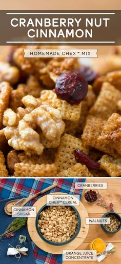 Serve up this snack treat and we're certain everyone will be a fan. Especially given it is both Gluten Free and Dairy Free! Festive flavors of Cinnamon, orange, walnuts and cranberries make this a comforting snack you can put out as an appetizer at Thanksgiving. Happy Holidays!