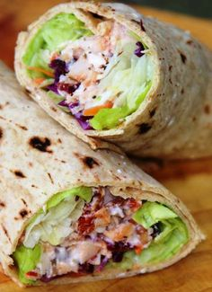 Cranberry Cherry Chicken Wrap. If you are looking for a quick and healthy lunch wrap, here's one you might try on for size. This wrap comes together in a snap thanks to convenience grocery items and packs a punch with a whole grain flat bread wrap and lots of protein to keep you going strong!
