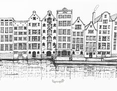 """Check out new work on my @Behance portfolio: """"Amsterdam, Netherlands - drawing"""" http://be.net/gallery/45690879/Amsterdam-Netherlands-drawing"""
