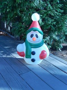 vintage snowman blow mold lighted snowman 24 inches by brixiana