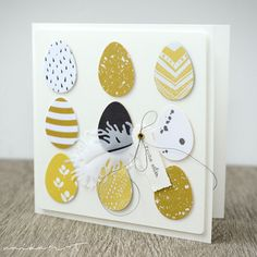 Another Eier-Arrangemant takes place on this map: And then there were still left out eggs . Diy Easter Cards, Easter Greeting Cards, Easter Crafts, Handmade Easter Cards, Paper Cards, Diy Cards, Diy Y Manualidades, Scrapbook Cards, Homemade Cards