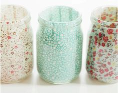 Add some cute to old glass jars!