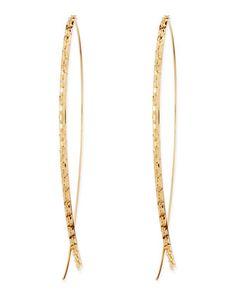 14k Large Glam Upside-Down Hoop Earrings by Lana at Bergdorf Goodman.