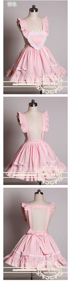 Flower lolita shipping Full dress strap dress Japanese Lolita cosplay maid apron, A11-Taobao