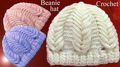 Gorro a Crochet en punto espigas de trigo en relieve tejido tallermanual...