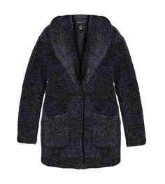 Stay stylish and warm with this Bouclé Mohair-Blend Coat by Mango. Made from good quality material, with dark brown color, open front long sleeves, front pocket, stylish coat for cold weather. A must have coat for you. http://www.zocko.com/z/JI1Su