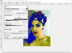 para la imagen Itziar 5 pulse: Colores> niveles y modifique el triangulo de en medio a 1,21