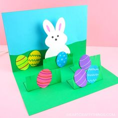 How to make a pop up Easter card -This homemade Easter card is a fun and easy craft for kids of all ages to make for Easter. Simple pop up handmade greeting cards. Easy Art For Kids, Crafts For Kids To Make, Crafts For Teens, Kids Diy, Handmade Greetings, Greeting Cards Handmade, Diy And Crafts Sewing, Easy Crafts, Easy Diy