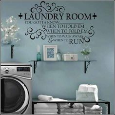 Laundry room color and style...love it!!