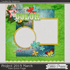 03-17-15 Free Quick Page created by Deanna using Project 2015 March.  scrapinfusions.blogspot.com