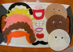 felt faces Busy Bag by Trucks and Rolls
