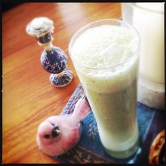 When summer hits, a blended drink made from cooling cucumber and yoghurt is an excellent choice.