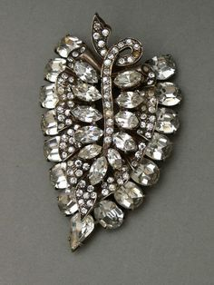 Eisenberg Jewelry   Heavy Sterling leaf pin clip by Eisenberg, cast sterling silver with ...