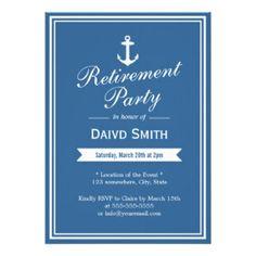 Navy Retirement Invitations, 152 Navy Retirement Announcements & Invites